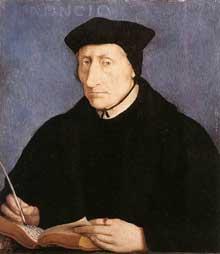 Jean Clouet: portrait de Guillaume Budé. Vers 1536. Huile sur bois, 39,7 x 34,3 cm. New York, Metropolitan Museum of Art