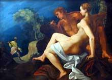 Toussaint Dubreuil: Angélique et Médor. Entre 1575 et 1600, 200 x 144 cm; Paris, Musée du Louvre