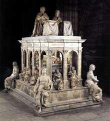 Jean Juste: tombeau de Louis XII et d'Anne de Bretagne; 1515 1531. Basilique de Saint Denis