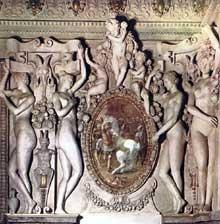 Le Primatice: détail de l'escalier royal de l'appartement de la Duchesse d