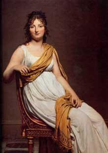 Jacques Louis David: portrait de Madame Raymond de Verninac. 1798-1799. Huile sur toile, 145 x 112 cm. Paris, Musée du Louvre