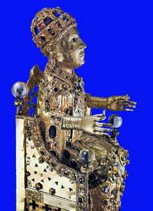 Statue – reliquaire de Sainte Foy. Vers 975. Musée de Conques