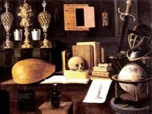 Stoskopff Sébastien: La grande vanité. Œuvre signée et datée 1641. Huile sur toile, 125 x 165cm. Strasbourg, Musée de l'Œuvre Notre-Dame. (Histoire de l'art)