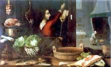 Stoskopff Sébastien: Les quatre éléments ou l'hiver. Huile sur toile, 116 x 188cm. Strasbourg, musée de l'œuvre Notre Dame. (Histoire de l'art)