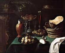 Stoskopff Sébastien: Grande nature morte. 1640. Salzbourg, Residenzgalerie. (Histoire de l'art)