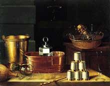 Stoskopff Sébastien: Nature morte aux verres vides. 1644. Huile sur toile, 86,4 x 109,9cm. The Norton Simon Foundation. (Histoire de l'art)