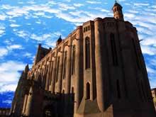 Albi, cathédrale sainte Cécile. Vue générale extérieure