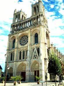 Amiens, la cathédrale. Façade occidentale
