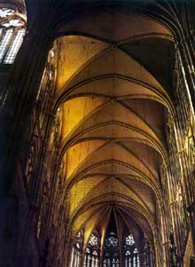Amiens, la cathédrale. La voûte du chœur