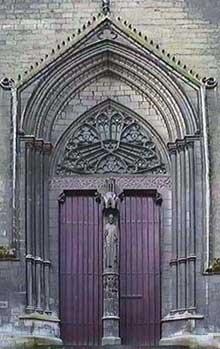 Amiens, la cathédrale. Le portail saint Firmin