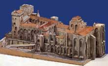 Avignon: le palais des Papes. Maquette
