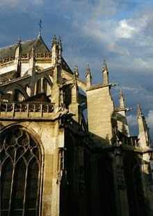 Beauvais, église saint Etienne: le chevet flamboyant, 1506-1556