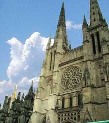 Bordeaux: la cathédrale saint André. Portail flamboyant