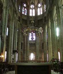 Bourges: la cathédrale. Le chœur