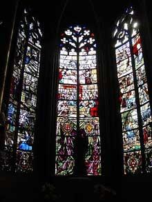 Bourges: la cathédrale. Vitraux du chœur
