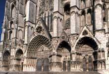Bourges: la cathédrale Saint Etienne. La façade occidentale