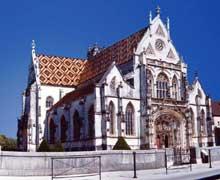 Brou près de Bourg en Bresse: Monastère royal Notre Dame (1506-1532): vue générale