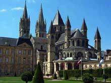 Caen, l'abbaye aux Hommes ou Saint Etienne. Vue générale