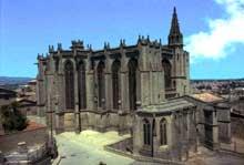 Carcassonne: la cathédrale saint Nazaire. Vue générale
