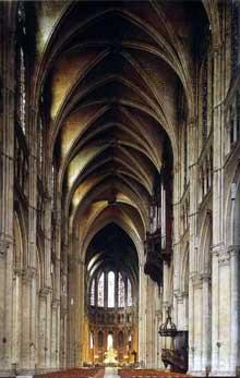 Chartres: cathédrale Notre Dame, la nef