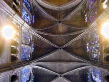 Chartres: cathédrale Notre Dame, voûtes de la nef