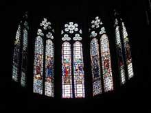La cathédrale Notre Dame de Clermont Ferrant. Les vitraux du chœur