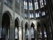 Cathédrale d'Evreux: le chœur et le déambulatoire
