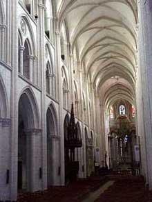 Fécamp: l'abbaye de la Trinité: la nef