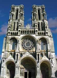 Laon: la cathédrale Notre Dame: Façade occidentale