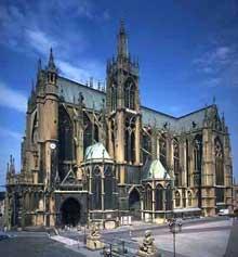 Cathédrale saint Etienne de Metz. Vue générale