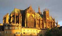 Cathédrale saint Etienne de Metz. Côté nord de l'édifice