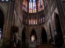Cathédrale saint Etienne de Metz. Choeur et déambulatoire