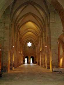 Noirlac: la nef de l'abbatiale