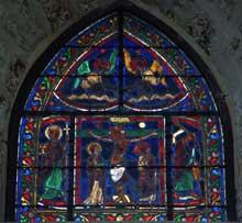 Orbais, l'église abbatiale. Vitrail