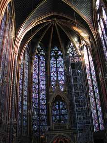 Paris: sainte chapelle: chapelle haute