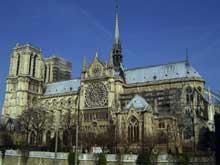 Paris, Notre Dame: vue générale côté sud