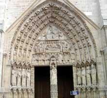 Paris, Notre Dame: Portail de la vierge