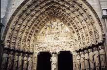 Paris, Notre Dame: portail du Jugement: tympan et voussures