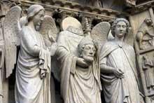 Paris, Notre Dame: saint Denis portant sa tête
