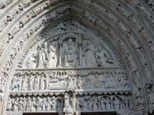 Paris, Notre Dame: tympan du transept sud dit tympan de sainte Anne
