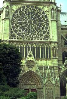 Paris, Notre Dame: le transept sud