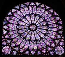 Paris, Notre Dame: vitrail du collatéral sud