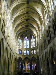 Paris: saint Séverin: la nef flamboyante