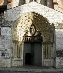 Provins, église saint Ayoul: le portail