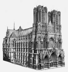 Reims : la cathédrale saint Remy