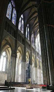 Reims: la cathédrale saint Remy. Elévation de la nef