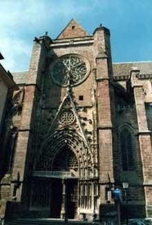Rodez: la cathédrale: La nef et le choeur