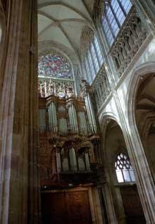 Rouen: saint Maclou. Elévation de la nef