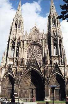 Rouen: saint Ouen. La façade occidentale