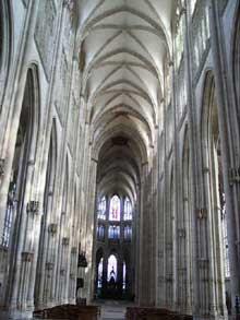 Rouen: saint Ouen. Vue du chevet